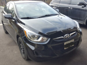 2014 Hyundai Accent Sedan , Manual + Low km .