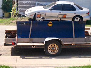 Trailer and snow plow