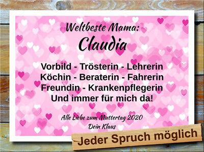 Muttertag Geschenkidee Wunschtext Dekoration Valentinstag Küchendeko ()