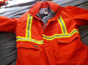 various winter PPE/safety coats/coveralls