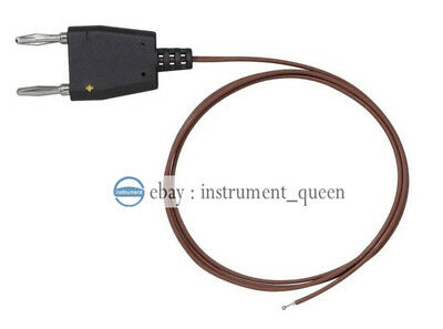 Replace Fluke 80bk-a K Type Thermocouple Probe 4mm Dual Banana Insulated Wire