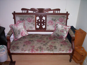 Antique Eastlake Loveseat from Early 1920's