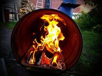 BBQ - BARIL biologique avec bois naturel *** VOIR LA VIDEO***