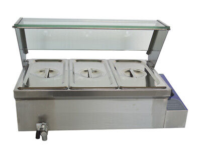 Brand New 3 Pot Food Warmer Bain-marie Buffet Steam Table Countertop 110v 1500w
