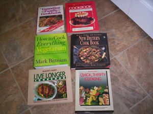 6 great big recipe books for all (quick, dieters ,vegaterian etc