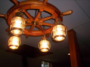 Ship Wheel Hanging Lamp Kawartha Lakes Peterborough Area image 2