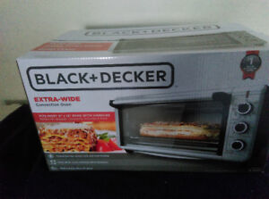 Black+Decker Extra Wide Convection Oven-New in Box