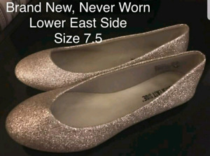 Lower East Side Flats Gold Sparkle