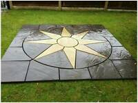 Patio paving sunrise /star circle