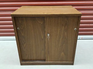 2 Door Wooden Storage Cabinet - Lockable