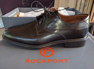 Rockport South Ferry Oxford Leather Shoes 9 W NEW IN BOX
