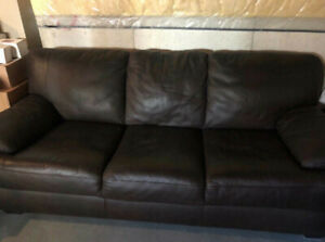 Brown Pure Italian Leather Natuzzi couch