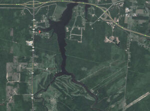 Waterfront building lot on the Aboujagane River near Shediac