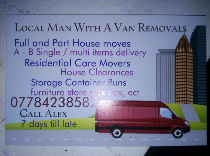 b89ddf0b5a Middlesbrough man with a van Removals and deliveries