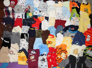Lot of 67 items - Baby BOY clothes - 3 months old