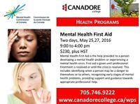 Canadore College - Mental Health First Aid - Parry Sound