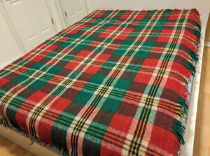 Wool blanket / couch throw - 100% wool