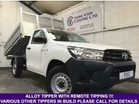2017 67 TOYOTA HILUX SINGLE CAB ALLOY TIPPER 2.4D-4D WITH REMOTE CONTROL TIPPING