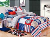 Designer 4 Piece Reversible Quilt Cover Set