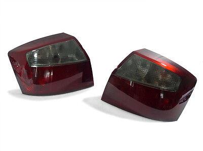 DEPO Dark Red / Smoke Rear Tail Light Pair For 2002-2005 Audi A4 S4 B6 4D Sedan