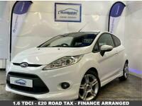 2011 11 FORD FIESTA 1.6 ZETEC S TDCI 3D 94 BHP DIESEL-£20 ROAD TAX-