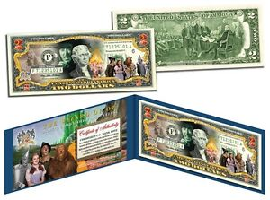 WIZARD OF OZ Legal Tender U.S. $2 Bill *OFFICIALLY LICENSED