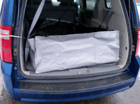Haul soil, sawdust, even a wet dog in your van or SUV!
