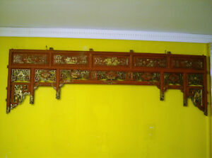 Exquisive Antique Bed Front Top Panel in Its Original Condition