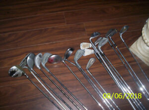 Total of 16 Various Golf Clubs Used-Take All For One Price