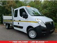 2016 16 VAUXHALL MOVANO 2.3 F3500 L3H1 124 BHP DOUBLE CAB DROPSIDE TAIL LIFT **