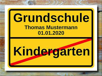 Ortsschild - Kindergarten Abschied Geschenk Grundschule Einschulung Dekoration
