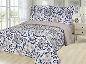 NEW - 6 pc Reversible Quilt Set Queen size available