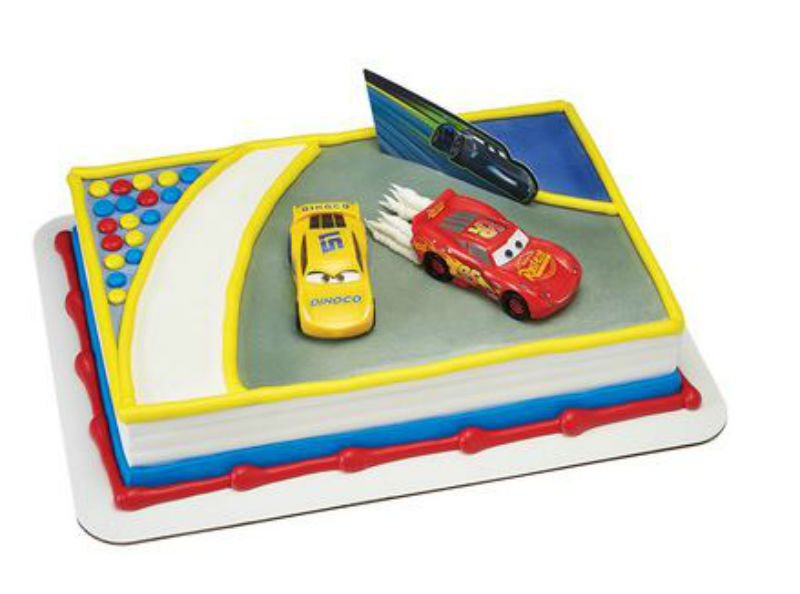 Cars 3 Movie Ahead of the Curve cake decoration Decoset cake