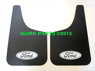 (1999-2012 F250 F350 F450 F550 Front or REAR Black Splash Guard Mud Flaps OEM NEW)