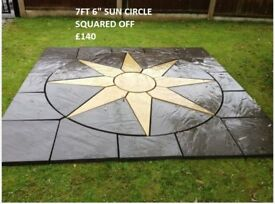 6ft sun circle patio paving