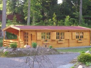 Final Clearance of stacking log wall Cabin KIT materials