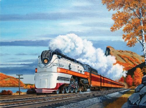 """Hiawatha in the Mississippi Palisades 24"""" X 18""""  Print by Gil Bennett."""