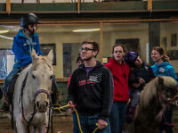 Volunteer with disabled riders February 18