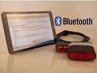 """Full dealer level delphi car diagnostic OBD 2 tool in a 8""""tablet latest 2015.3 Delphi Bluetooth"""