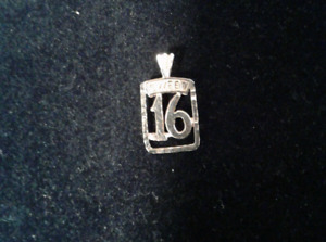Sweet  16  Gold Pendant