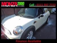 MINI 1.6 120bhp COOPER WHITE FULL ELECTRIC ROOF NIL DEPOSIT FINANCE WARRANTY