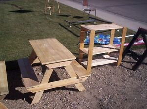 """Kids picnic table measures about  36"""" by 36"""" by 22""""  $55"""
