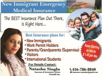 Lowest Rates  Visitor/Student/Work Permit/Super Visa Insurance