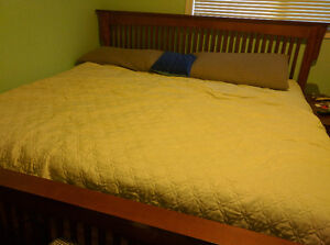 Headboard, footboard, and rails for king size bed
