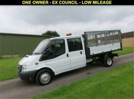 2013 13 FORD TRANSIT 2.2 350 CREW CAB TIPPER DRW 100 BHP - 35,351 MILES MILES DI