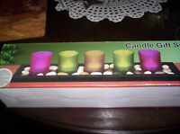 Candles on a tray gift set new