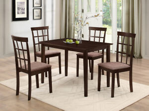 NEW ★ 5 / 7 Pcs Dinette Sets ★ Solid Wood ★ Can Deliver