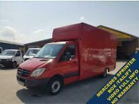 2008 58 MERCEDES-BENZ SPRINTER LWB 129 BHP LUTON BOX + TAILIFT ( NO VAT ) DIESEL
