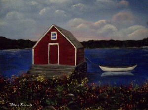 Learn how to paint Jelly Bean Houses, and Newfoundland scenes St. John's Newfoundland image 6
