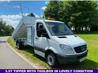 2013 Mercedes-Benz Sprinter 2.1Cdi 313 3.5t. LWB 129Bhp 11ft Tipper & Toolbox TI